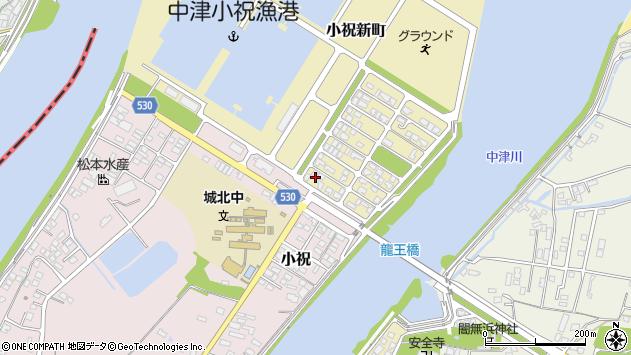 大分県中津市小祝新町2周辺の地図
