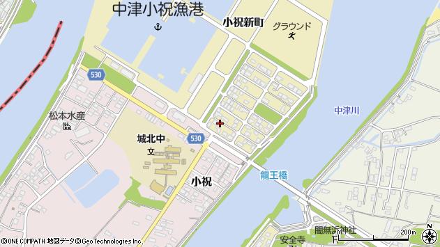大分県中津市小祝新町8周辺の地図