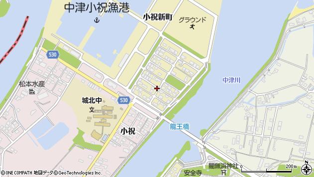 大分県中津市小祝新町12周辺の地図