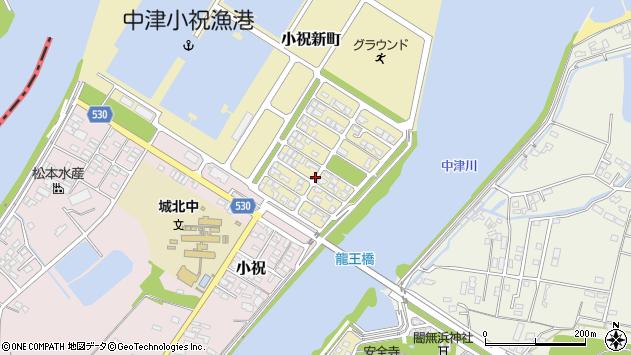 大分県中津市小祝新町21周辺の地図
