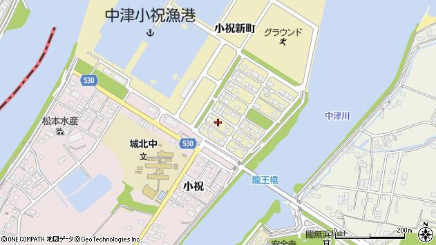 大分県中津市小祝新町10周辺の地図