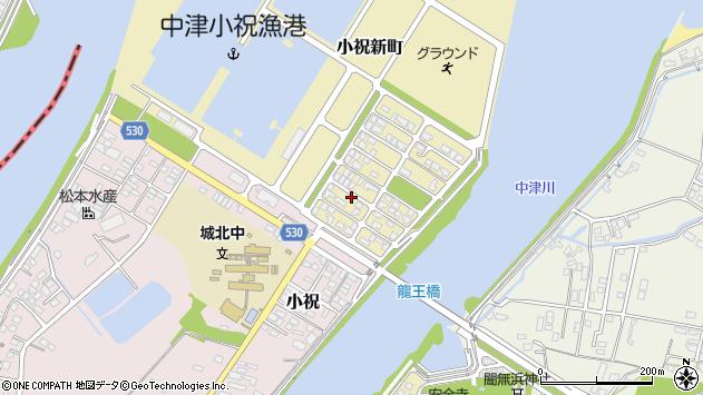 大分県中津市小祝新町14周辺の地図