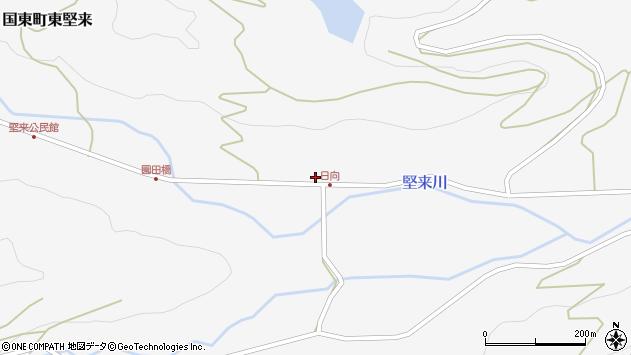 大分県国東市国東町東堅来792周辺の地図