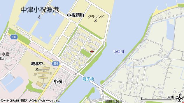 大分県中津市小祝新町78周辺の地図