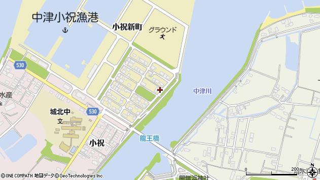 大分県中津市小祝新町76周辺の地図