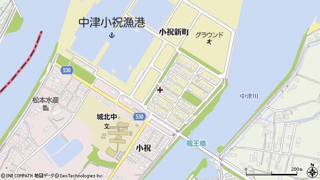 大分県中津市小祝新町18周辺の地図