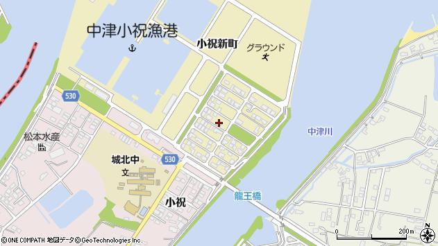 大分県中津市小祝新町28周辺の地図