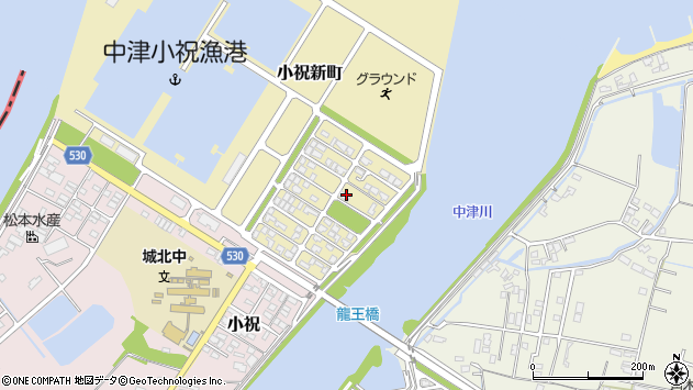 大分県中津市小祝新町75周辺の地図