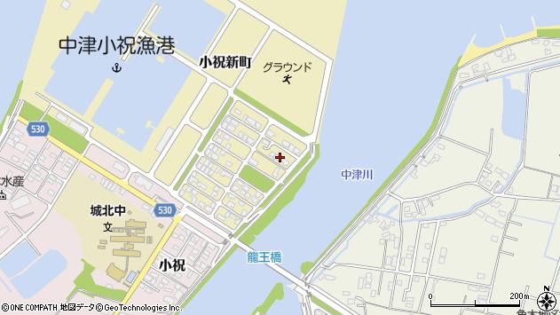 大分県中津市小祝新町72周辺の地図