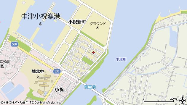 大分県中津市小祝新町71周辺の地図