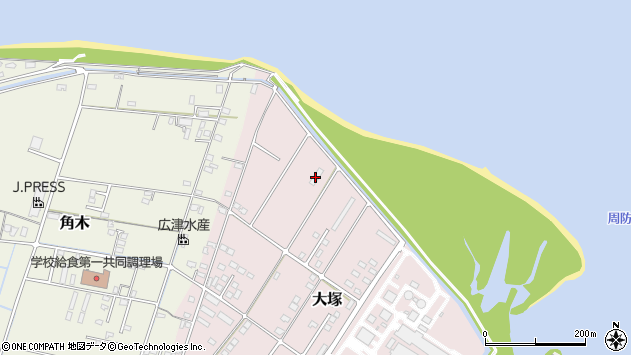 大分県中津市大塚823周辺の地図