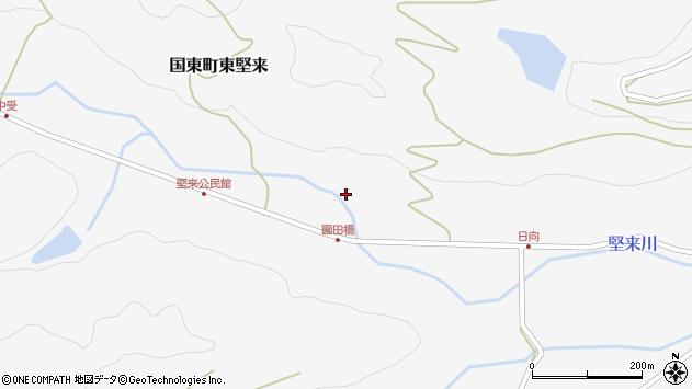 大分県国東市国東町東堅来2444周辺の地図