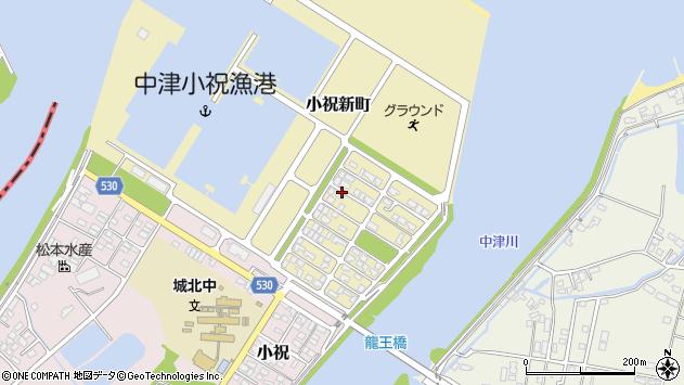 大分県中津市小祝新町43周辺の地図