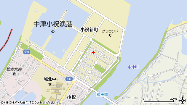大分県中津市小祝新町45周辺の地図