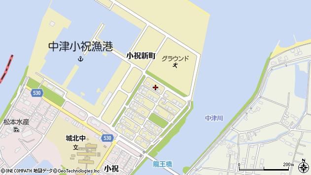 大分県中津市小祝新町54周辺の地図