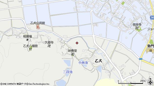 福岡県糟屋郡篠栗町乙犬周辺の地図