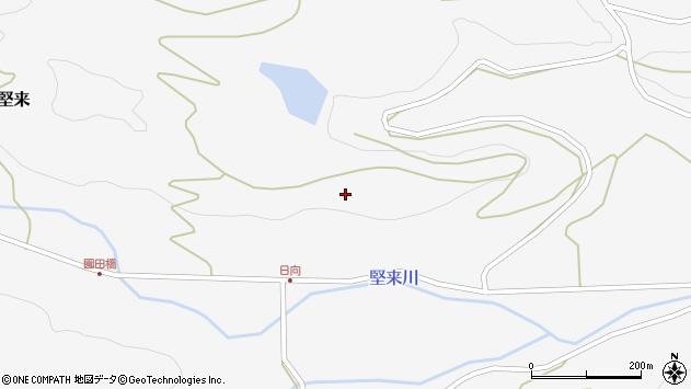大分県国東市国東町東堅来日向周辺の地図