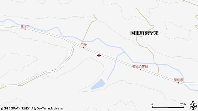 大分県国東市国東町東堅来2082周辺の地図