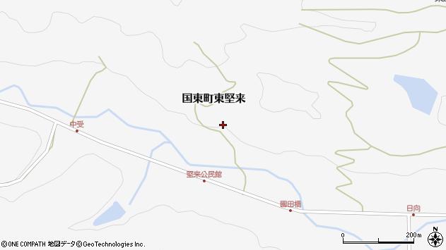 大分県国東市国東町東堅来政友周辺の地図