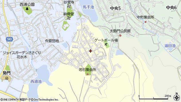 福岡県糟屋郡篠栗町若杉周辺の地図