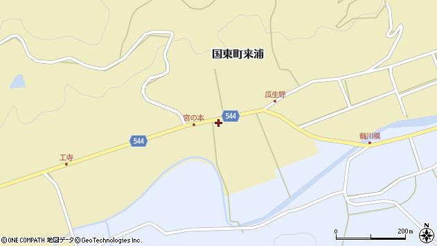 大分県国東市国東町来浦2807周辺の地図