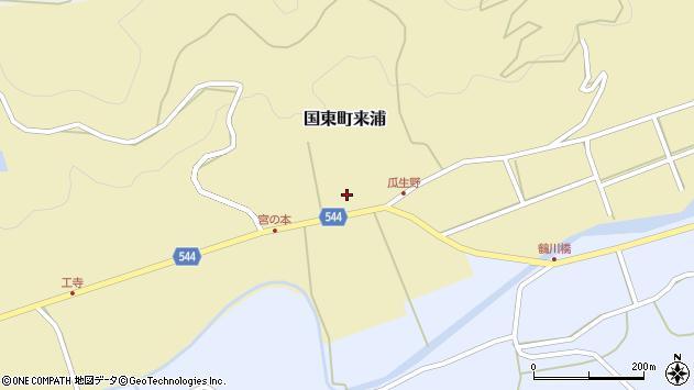 大分県国東市国東町来浦周辺の地図