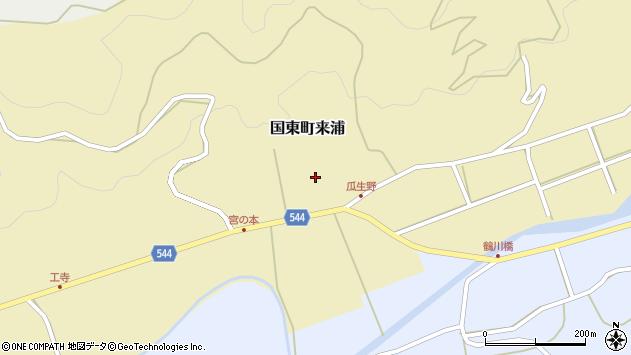 大分県国東市国東町来浦2990周辺の地図