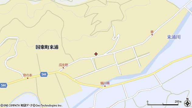 大分県国東市国東町来浦3157周辺の地図