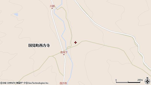 大分県国東市国見町西方寺729周辺の地図