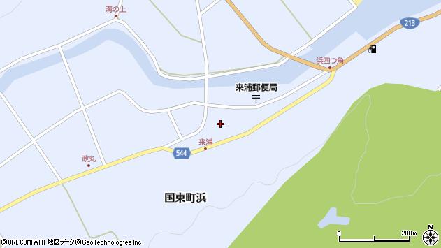 大分県国東市国東町浜浜陰周辺の地図