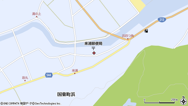大分県国東市国東町浜3779周辺の地図