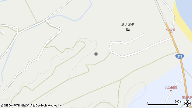 大分県国東市国見町向田中ノ迫周辺の地図