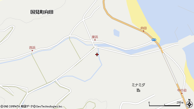 大分県国東市国見町向田1779周辺の地図
