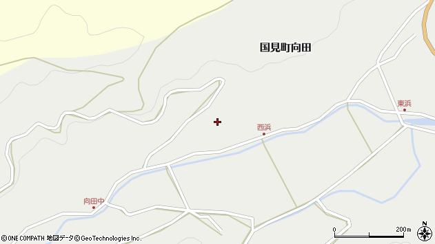 大分県国東市国見町向田237周辺の地図