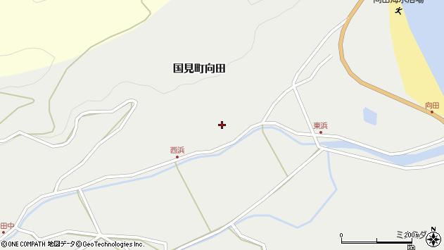 大分県国東市国見町向田177周辺の地図