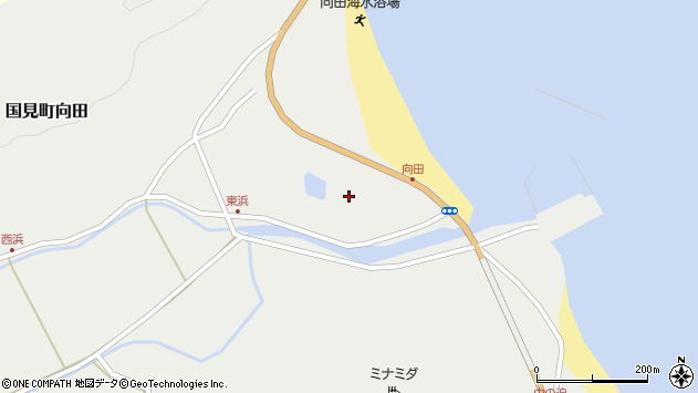 大分県国東市国見町向田1895周辺の地図