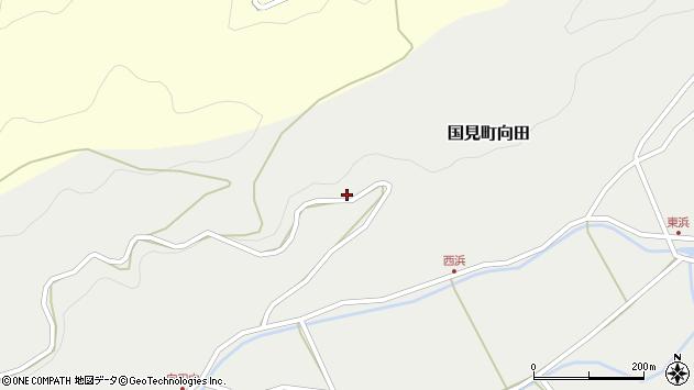大分県国東市国見町向田小野周辺の地図