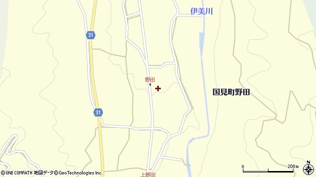 大分県国東市国見町野田845周辺の地図