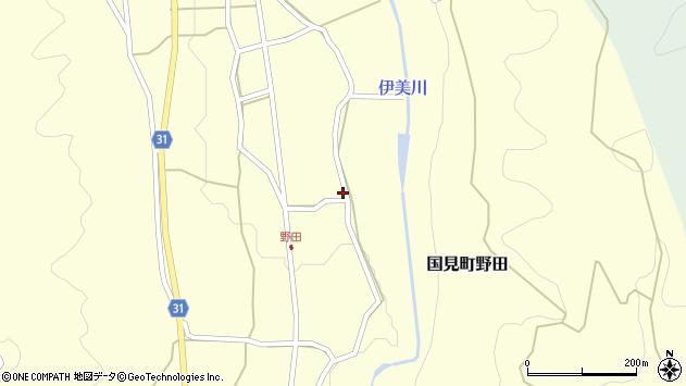 大分県国東市国見町野田827周辺の地図