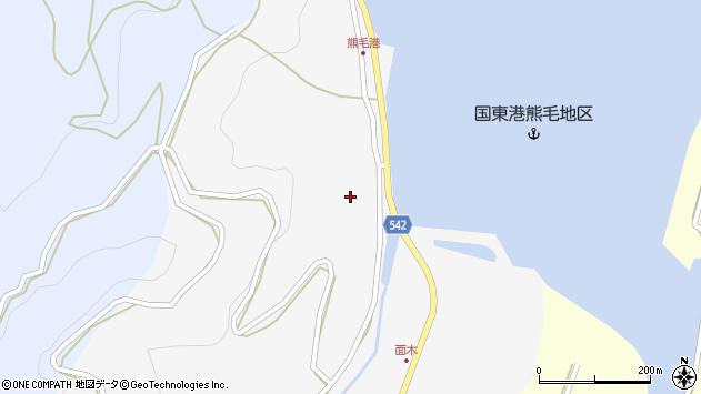 大分県国東市国見町小熊毛面木周辺の地図