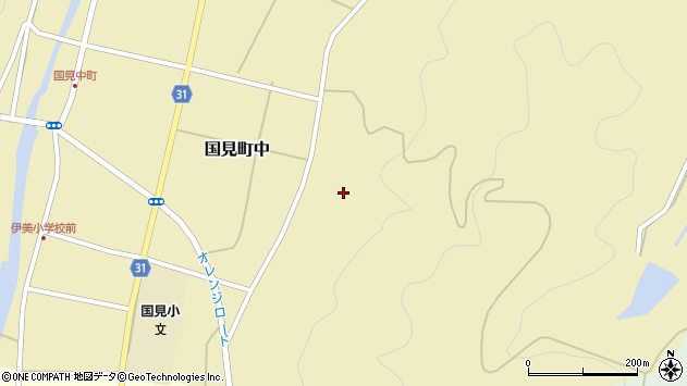大分県国東市国見町中392周辺の地図