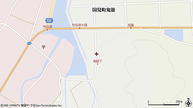 大分県国東市国見町鬼籠2周辺の地図