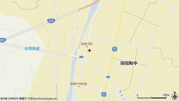 大分県国東市国見町中1055周辺の地図