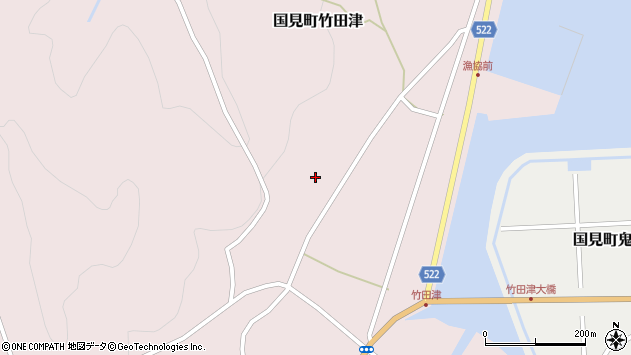 大分県国東市国見町竹田津岡丸周辺の地図