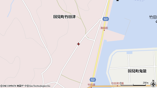 大分県国東市国見町竹田津4296周辺の地図