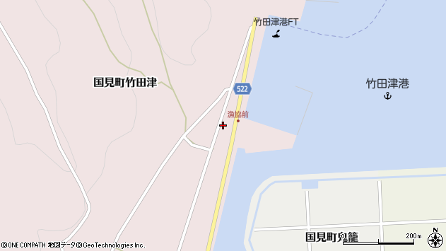 大分県国東市国見町竹田津3900周辺の地図