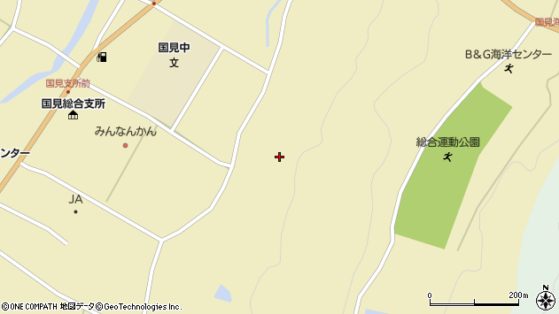 大分県国東市国見町伊美本城周辺の地図