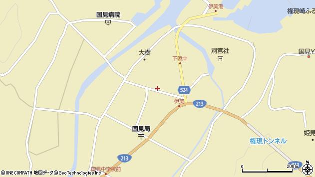 大分県国東市国見町伊美2672周辺の地図