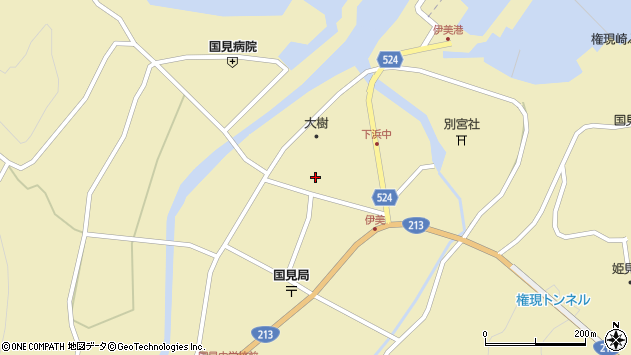 大分県国東市国見町伊美2676周辺の地図