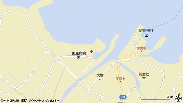 大分県国東市国見町伊美古町周辺の地図